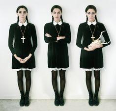 """Идея стильного наряда для Хэллоуина - оденься, как Венсди Адамс из """"Семейки Адамс"""" / Блог Katyushe4ka / Гланж"""