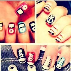 Nails like iPod,converse and sailor