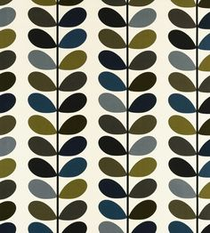 70s Interior Design Revival | Multi Stem Fabric by Ashley Wilde | Jane Clayton