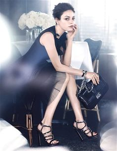 Mila Kunis is the new face of Miss Dior. Check out the lovely Mila Kunis in the new Miss Dior ads for Christian Audigier, Christian Dior, Oliver Peoples, Miss Dior Bag, Vogue Mexico, Dior Handbags, Dior Bags, Chloe Handbags, Justin Timberlake