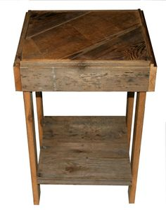 reclaimed antique barn wood rustic end table book stand night stand on etsy