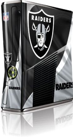 Skinit Oakland Raiders Vinyl Skin for Microsoft Xbox 360 Slim (2010)  $29.99 Amazing Discounts Your #1 Source for Video Games, Consoles & Accessories! Multicitygames.com Click On Pins For More Info