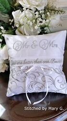 Elegant Ring Bearer Pillow, In The Hoop | Wedding | Machine Embroidery Designs | SWAKembroidery.com