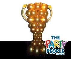 Trophy made from balloons