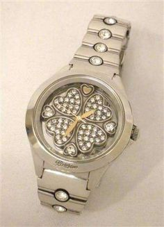 Brighton Bloomington Swarovski Crystals Heart Silverplte Quartz Watch W40852 NWT #Brighton #Fashion