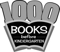 1000 Books before Kindergarten - BW jpg image. Materials may be downloaded and used by libraries and other not-for-profit organizations in accordance with the image license agreement found here: http://www.wcfls.org/marketing/