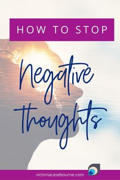 How to stop negative thoughts? Do you struggle with this? Remember - You are stronger than your thoughts. Find out how to stop your anxious or negative thoughts so you can start accomplishing… More Self Development, Personal Development, Mental Health And Wellbeing, Positive Inspiration, Positive Outlook, Feeling Stuck, Stronger Than You, My Face Book, Negative Thoughts