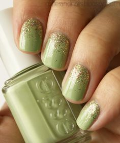 Essie Navigate Her + Color Club Gingerbread.......suuuper cute, have Navigate Her, will have to try this!