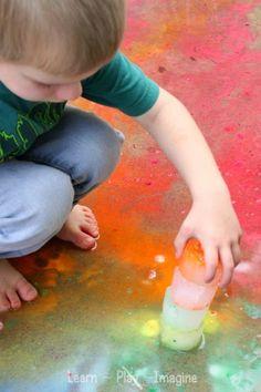 Frozen building blocks sensory play