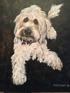 by Cindy Siemens 2020 Goldendoodles, Dog Art, Oil Paintings, Portrait, Dogs, Animals, Animales, Headshot Photography, Animaux
