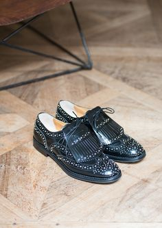Church's Black Studded Brogues with Tassels