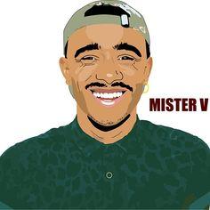 Yvick alias Mister V. L'un de mes premiers portraits illustrator avec celui de Will Smith !