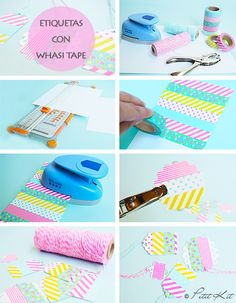I will admit it. I never thought I would like Washi Tape. But I have changed my ways, and now I love, love, LOVE it. Washi Tape Dorm, Washi Tape Planner, Washi Tape Cards, Tape Crafts, Diy Arts And Crafts, Diy Crafts, Handmade Birthday Cards, Birthday Diy, Diy Bookmarks