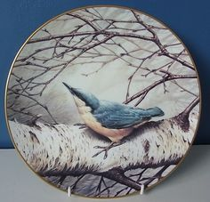 Wedgwood for RSPB Centenary Bird Plate Collection: Nuthatch - Artist: Terance James Bond