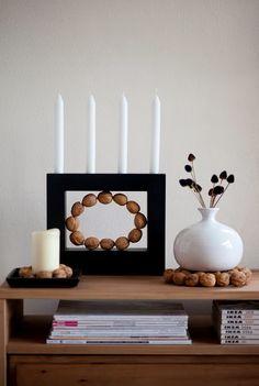 WOHN:PROJEKT: Hübsche DIY Idee aus Walnüssen! Walnut Crafting. Basteln mit Nüssen. Die Anleitung gibt's am Blog!
