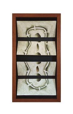 Título: Tablero No. 1 Autor: Alvaro Galindo Vácha Dimensiones: 4 Módulos de 24.5 x 10 cm Técnica: Acrílico sobre cartón Año: 2001 Firmado: Frente