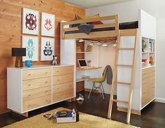 Moda Loft Beds with Desk & Dresser Options - Bunks & Lofts - Kids - Room & Board