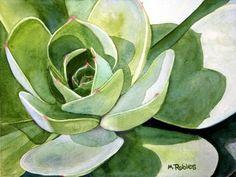 Sunlite Succulent (WC) by  Michel N Robles