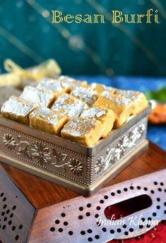 Indian Khana: Besan Mawa Burfi | Burfi Recipes | Diwali Sweets R...
