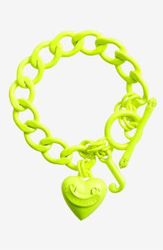 Juicy Couture Starter Charm Bracelet in Neon Yellow Green... Super likey