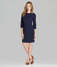 could easily add accessories to change the look.    Cremieux Ava Ponte Knit Dress #Dillards