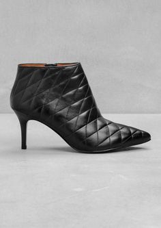 & Other Stories | Quilted Leather Ankle Boots