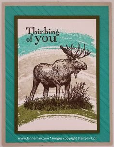 Walk In The Wild Work Of Art Moose- Dena Lenneman, Stampin' Up! Demonstrator