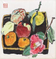 Still-life by Kazumasa Nakagawa 中川一政 (1893-1991).
