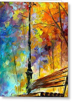 Aura Of Autumn 2 Greeting Card by Leonid Afremov