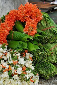 Flowers for Garlands: Vijayawada, Andhra Pradesh, India