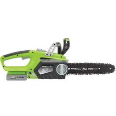 Earthwise 10 inch Lithium Ion Cordless Electric Chain Saw (Battery and charger Included), Multicolor Battery Powered Chainsaw, Cordless Chainsaw, Electric Chainsaw, Yard Tools, Garden Gifts, Outdoor Power Equipment, Charger, Walmart, Metal