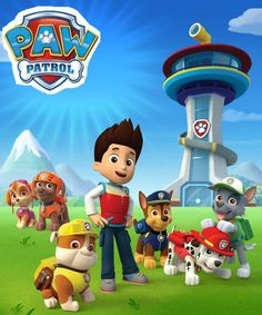 It would be really easy to make the paw patrol logo into an invitation