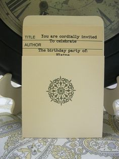 A Well-Crafted Party: {Working on it Wednesday} Library Themed Birthday Party
