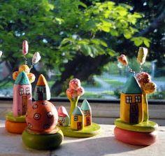 Clay house tutorial. Tiny little faery houses?