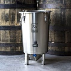 SS Brewing Technologies Brew Bucket – Brewmaster Model. This version is the Brew Bucket with the addition of a weldless thermowell and LCD thermometer – from monitoring fermentation te…