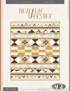 """Nomadic Tapestry"" Free Quilt Pattern"