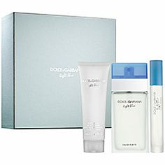 Still my favorite fragrance - this is the perfect set as it features 2 sizes small enough for travel! Sephora: Dolce & Gabbana : Light Blue Holiday Set : cologne-gift-sets