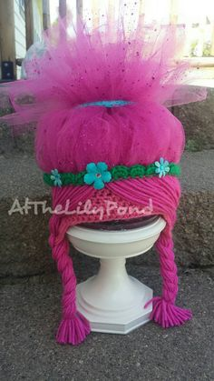Troll hat Poppy Trolls Hat Trolls birthday party Poppy Hat