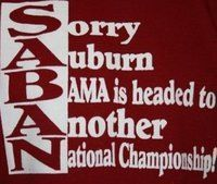 SABAN! RTR! BAMA ~ Check this out too ~ RollTideWarEagle.com for sports stories that inform and entertain. #Bama #Alabama #CFB