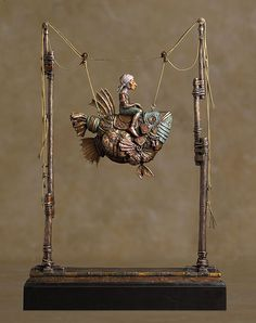 False Magic by James Christensen. Limited edition bronze, based on a painting