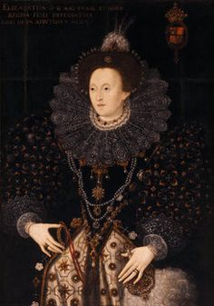 PORTRAIT OF QUEEN ELIZABETH I by anonymous artist The picture hangs in the library at Charlecote Park