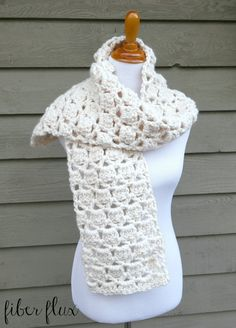 Fiber Flux: Free Crochet Pattern...Sugar Cookie Scarf!