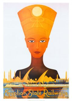 Egyptian State Railways Vintage Egyptian Travel and Tourism Posters, Art, and Prints - from Enjoy Art.