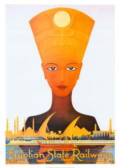 Egyptian State Railways print. $19.99