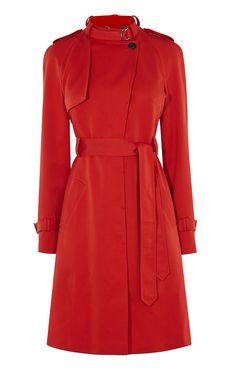 Red Trench Coat | Karen Millen (CY016)