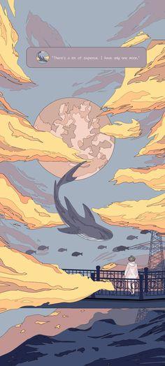 Aesthetic Desktop Wallpaper, Anime Scenery Wallpaper, Landscape Wallpaper, Aesthetic Backgrounds, Wallpaper Backgrounds, Whats Wallpaper, Soft Wallpaper, Cute Anime Wallpaper, Wallpaper Iphone Cute