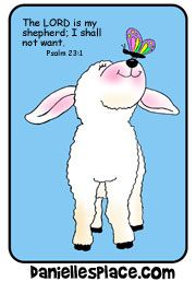 Free Bible Lesson for Sunday School - Psalm 23 (crafts, games, puppet skit)