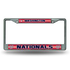 New! Washington Nationals Bling Glitter Chrome License Plate Frame #WashingtonNationals
