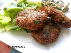 Greek Lentil Burgers