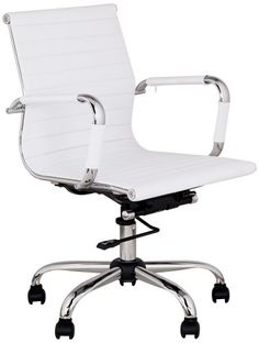 Swivel Office chair - Pin it :-) Follow us :-)) AzOfficechairs.com is your Office chair Gallery ;) CLICK IMAGE TWICE for Pricing and Info :) SEE A LARGER SELECTION of  swivel office chair at  http://azofficechairs.com/?s=swivel+office+chair -  office, office chair, home office chair -  White Leather Low Back Swivel Office Chair « AZofficechairs.com